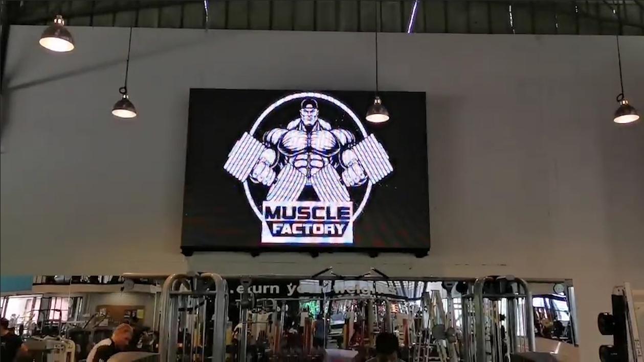 งานติดตั้งโครงสร้างและระบบจอ LED – Muscle Factory 2019