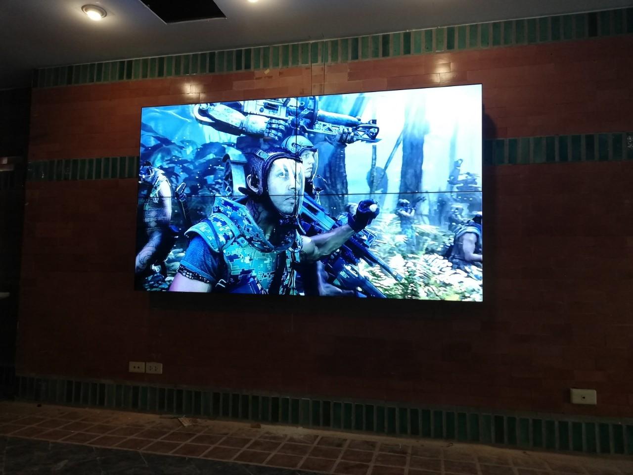 งานติดตั้ง Video Wall (2x1) และ (2x2) – ศูนย์อบรม ธนาคารกรุงไทย สาขาเขาใหญ่